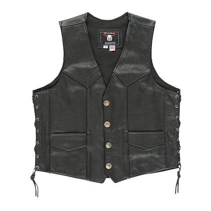 Black Western Style Vest