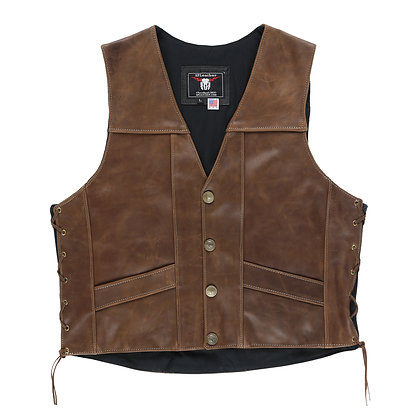 Crazy Horse Distressed Brown Vest