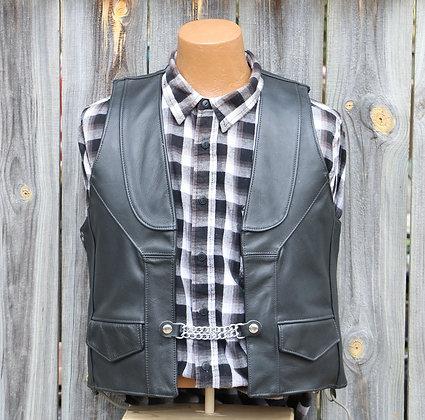 Black Concho Vest