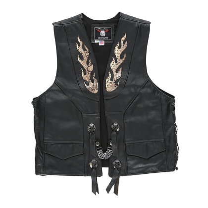 Snakeskin Flame Concho (Gambler Vest)