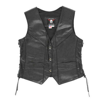 Women's Plain Black Vest