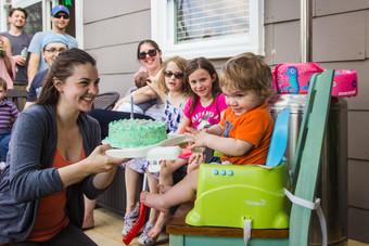 Backyard 1st Birthday Party