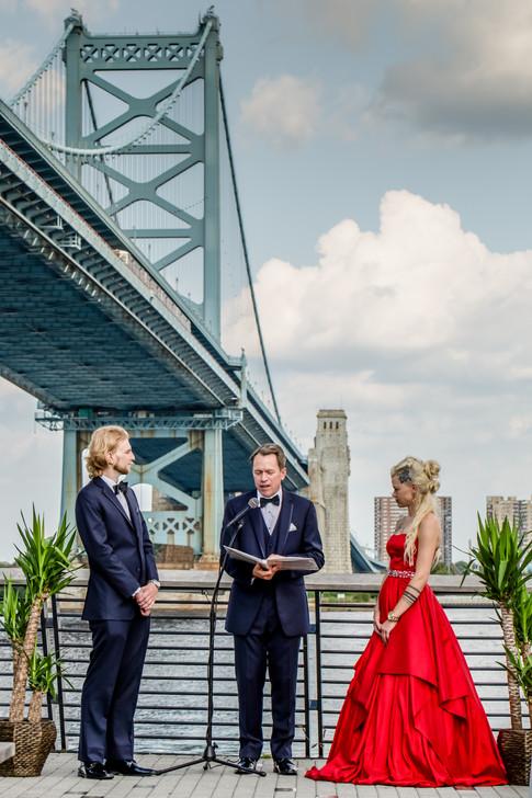 Red Wedding at Race Street Pier, Philadelphia