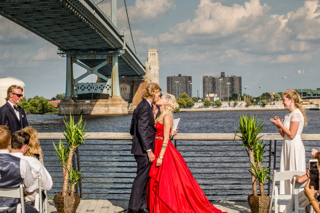 Red Wedding at Race Street Pier, Philadelphia
