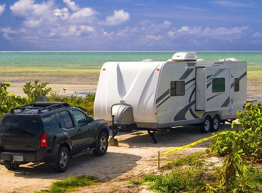caravan at beach