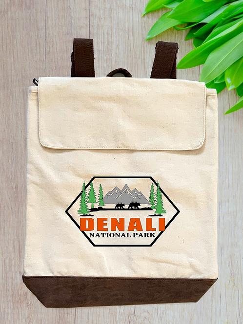 Denali National Park Canvas Rucksack