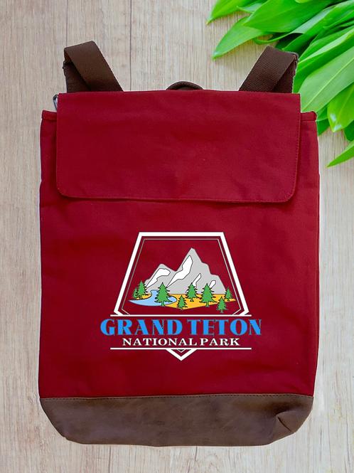 Grand Teton National Park Canvas Rucksack