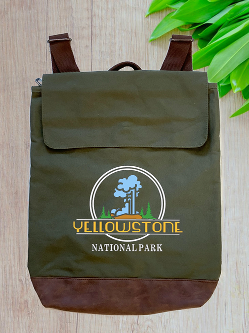 Yellowstone National Park Canvas Rucksack