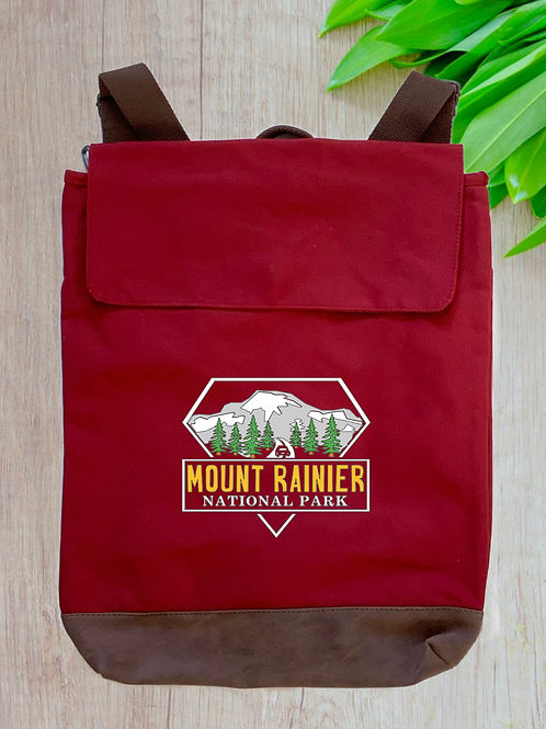Mount Rainier National Park Canvas Rucksack