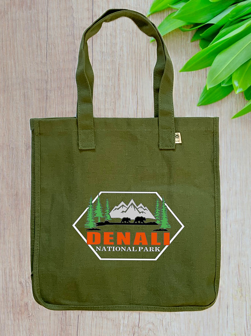 Denali National Park Hemp Tote