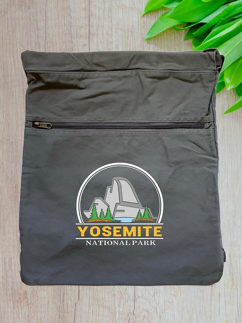 Yosemite National Park Canvas Cinch Bag