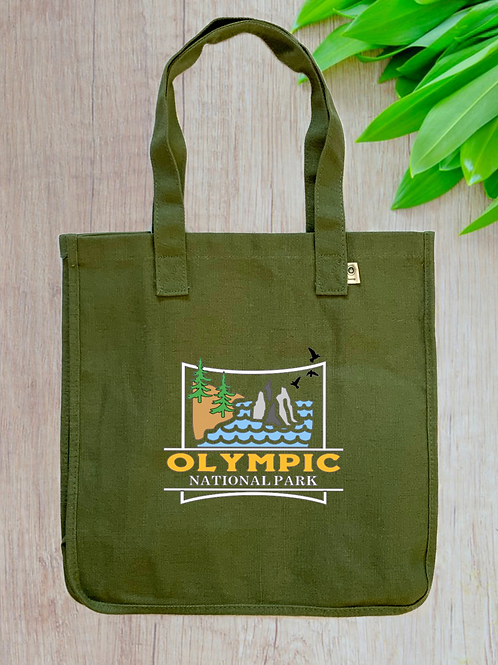 Olympic National Park Hemp Tote