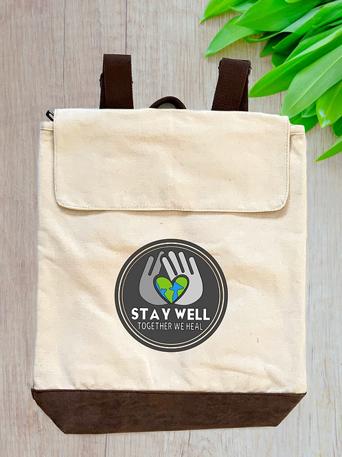Stay Well Canvas Rucksack