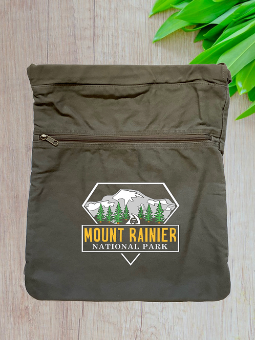 Mount Rainier National Park Cinch Bag
