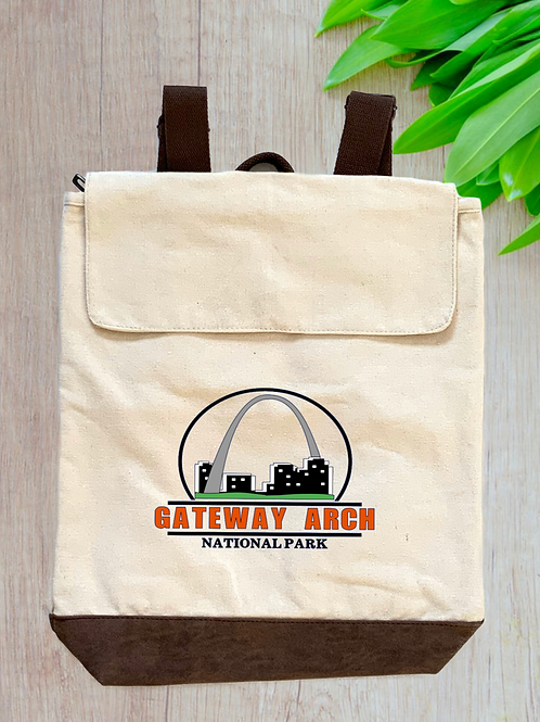 Gateway Arch National Park Canvas Rucksack