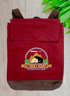 Great Smoky Mountains National Park Canvas Rucksack