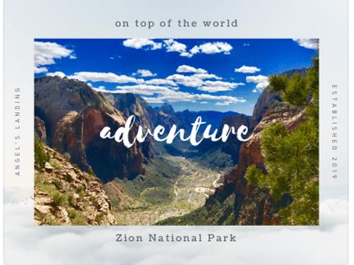 Zion NP Postcard