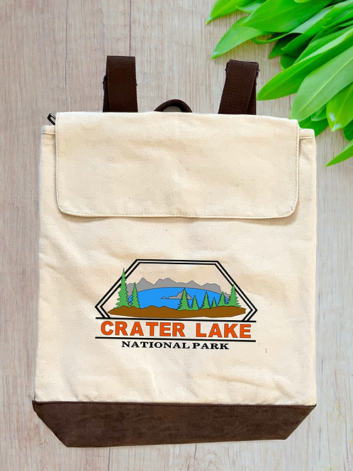 Crater Lake National Park Canvas Rucksack