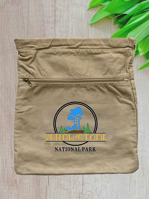 Yellowstone National Park Canvas Cinch Bag