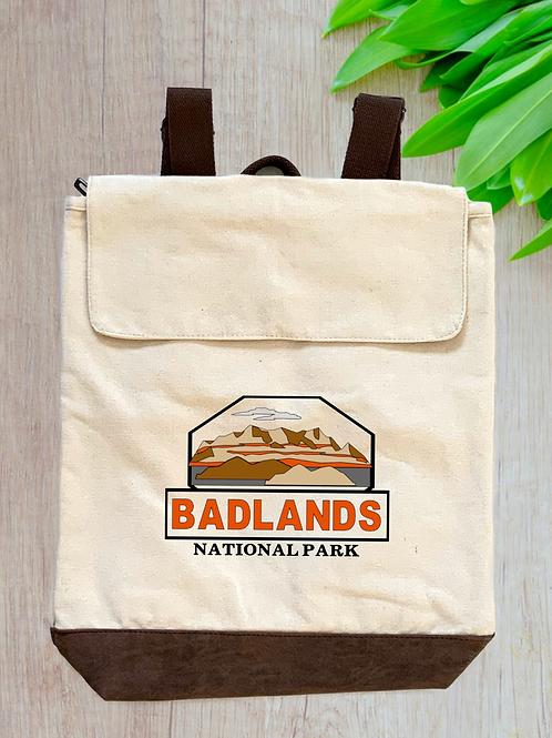 Badlands National Park Canvas Rucksack