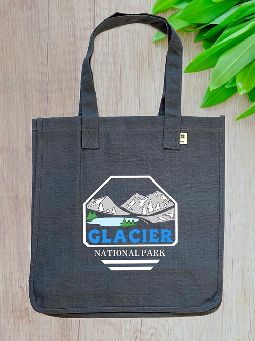 Glacier National Park Hemp Tote