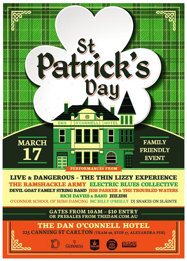 DOC St Patricks Day Poster 2019 A3 PRINT