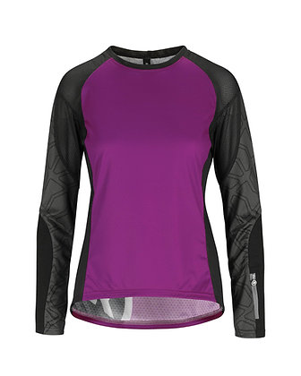 Maillot Asssos Mujer Trail LS Jersey Cactus purple
