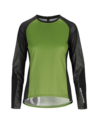 Maillot Asssos Mujer Trail LS Jersey Pan Greem