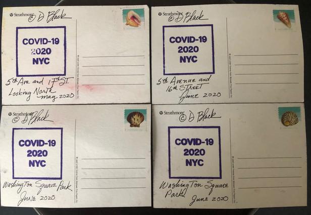 (backs of postcards)