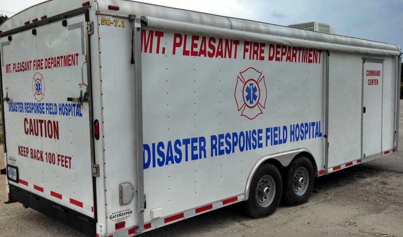 Mt Pleasant Firehouse 6 Mobile field hos
