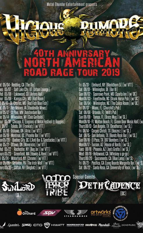 Vicious Rumors 40th Anniversary Road Rage Tour