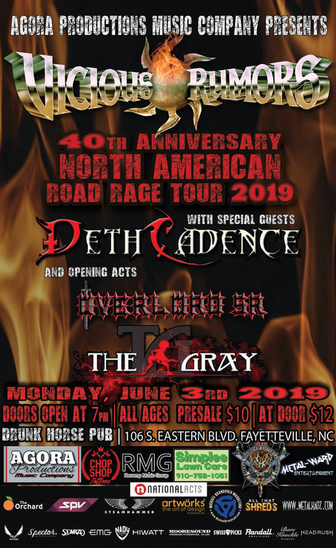 DethCadence with Vicious Rumors - Fayetteville, NC