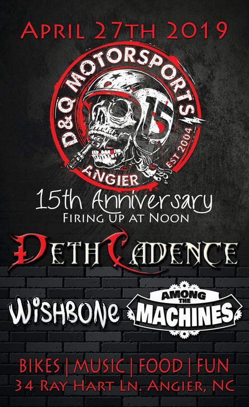 DethCadence, Among The Machines, Wishbone - Angier, NC