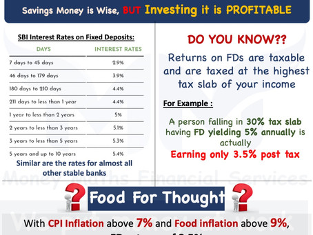 If you are still using the FDs/RDs as your weapon to fight inflation, here is something for you..