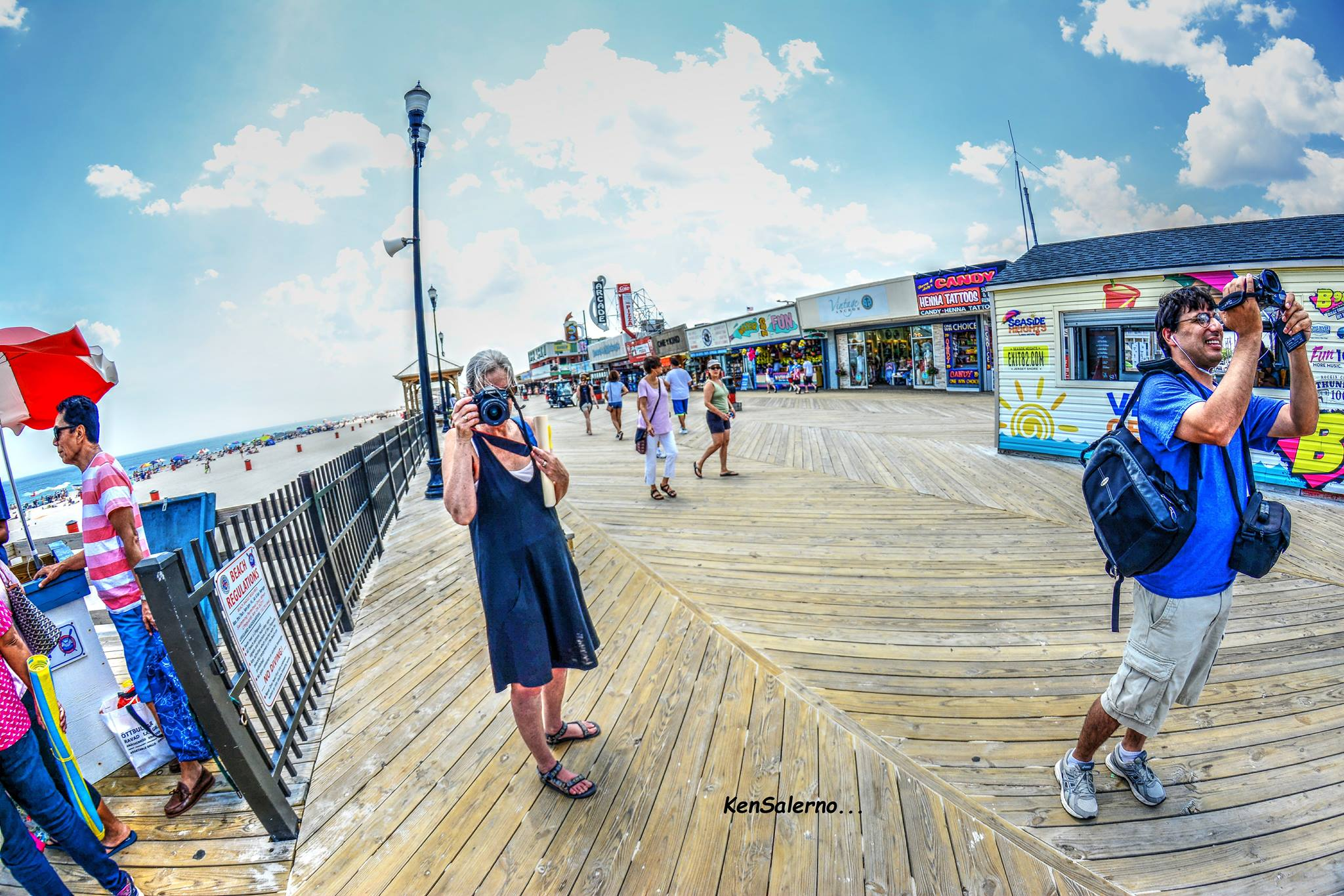 tinaandlennononboardwalk