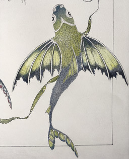 Flying fish (detail)