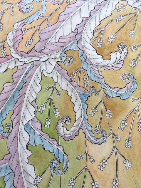 Pink Blue Swirls.