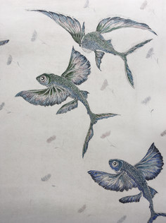 Blue Flying Fish