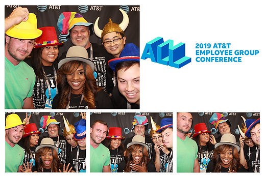 corporate photo booth print in dallas for AT&T