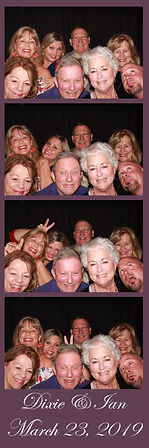 photo booth print from a wedding in Dallas
