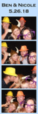 photo booth at cathedral oaks for a wedding