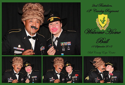 killeen photo booth rental for a military ball at the Killeen Civic Center
