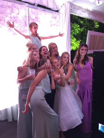 Open Air Photo Booth at Wedding