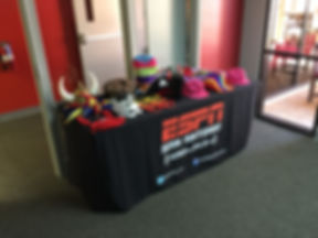 photo booth props for a corporate event in San Antonio, Texas at ESPN