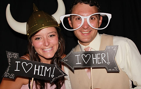 photo booth rental at a wedding in Dallas