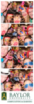 photo booth print with students from Baylor University