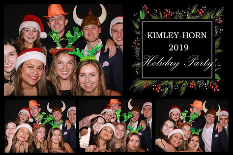 photo booth print from a company holiday party at Steam Theory Brewing in Dallas