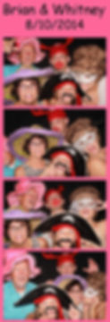 photo booth print out from a wedding in Waco Texas