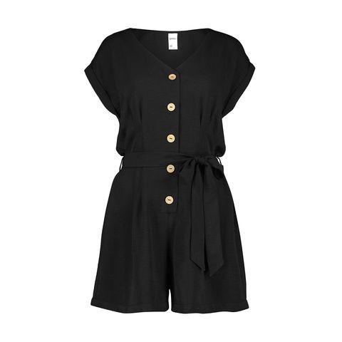 Short Sleeve Button Playsuit $22.00