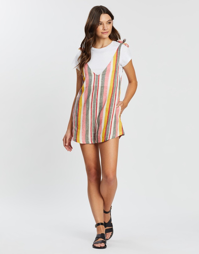RUSTY Troublemaker Stripe Playsuit SALE $55.99 (Was $79.99)
